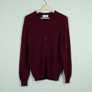 Hawick Knitwear Red Cardigan